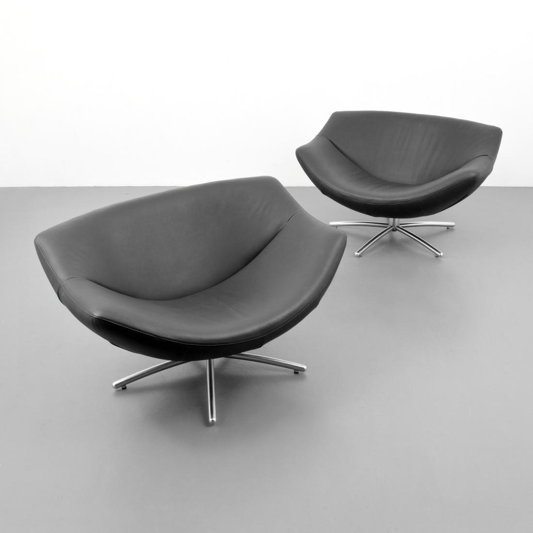 Gerard Van Den Berg GIGI Leather Lounge Chairs