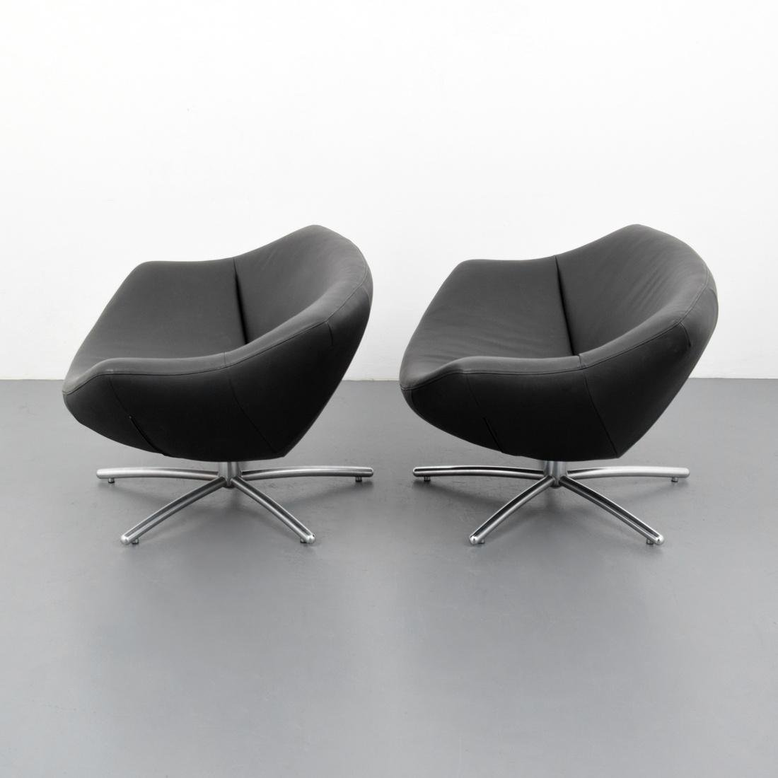 Gerard Van Den Berg GIGI Leather Lounge Chairs - 2