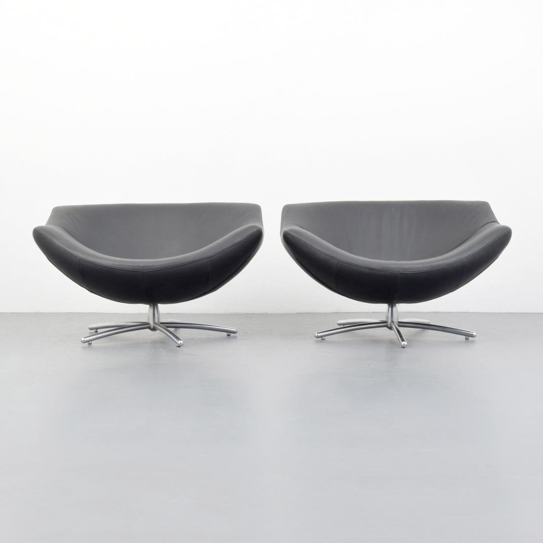 Gerard Van Den Berg GIGI Leather Lounge Chairs - 5