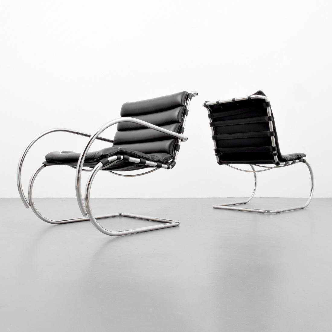 2 Mies Van Der Rohe Cantilever Chairs