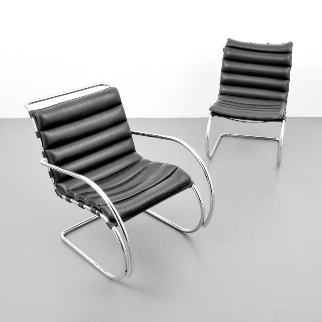 2 Mies Van Der Rohe Cantilever Chairs - 4