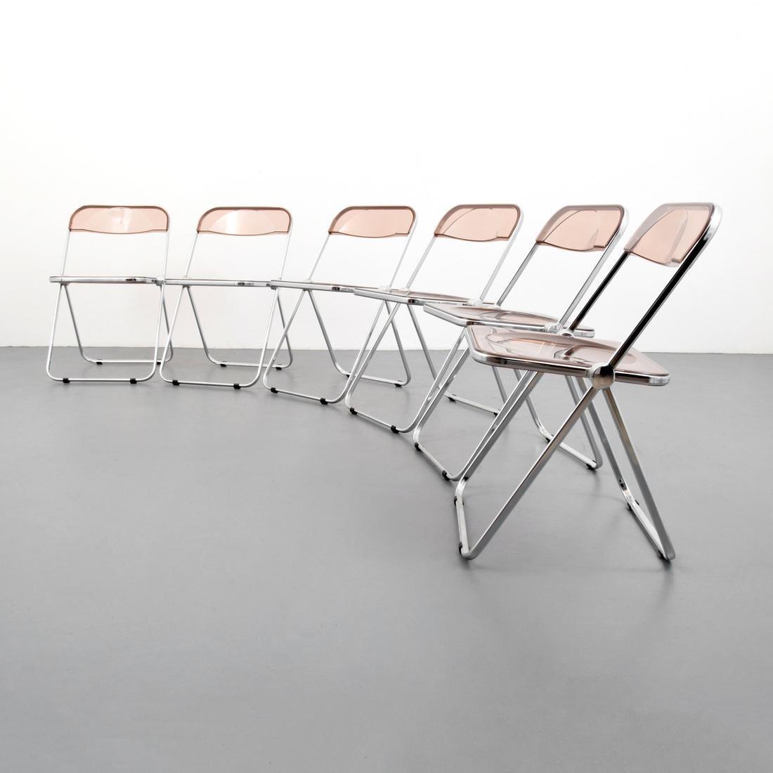 Giancarlo Piretti PLIA Folding Chairs, Set of 6