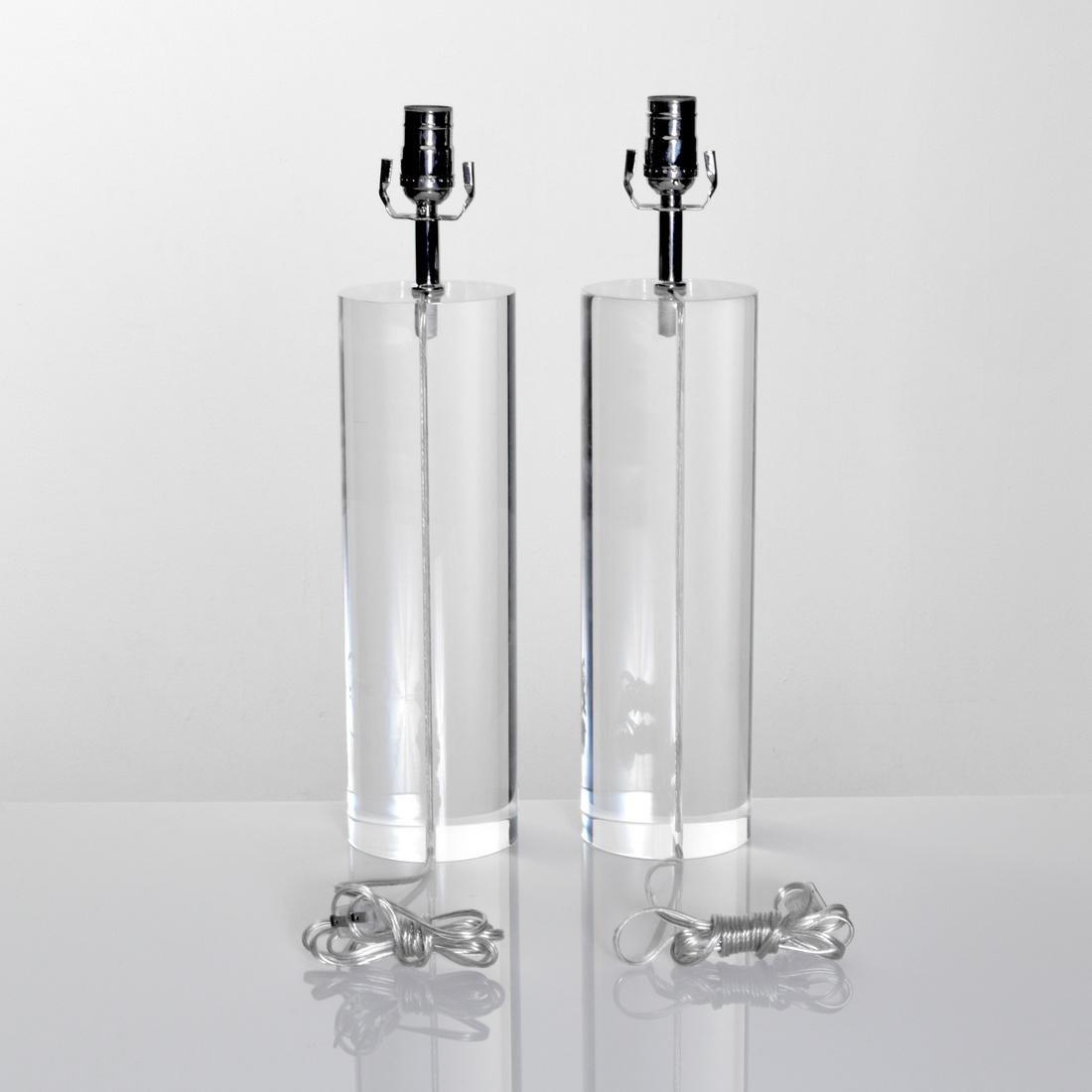 Pair of Lamps, Manner of Karl Springer - 3