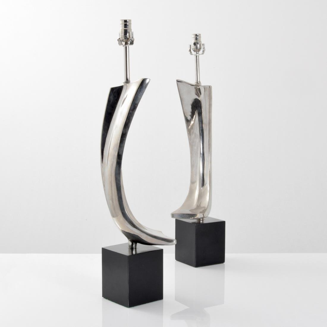 Pair of Maurizio Tempestini Brushstroke Form Lamps