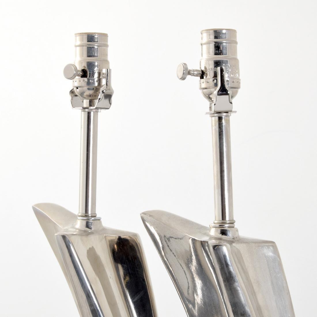 Pair of Maurizio Tempestini Brushstroke Form Lamps - 5