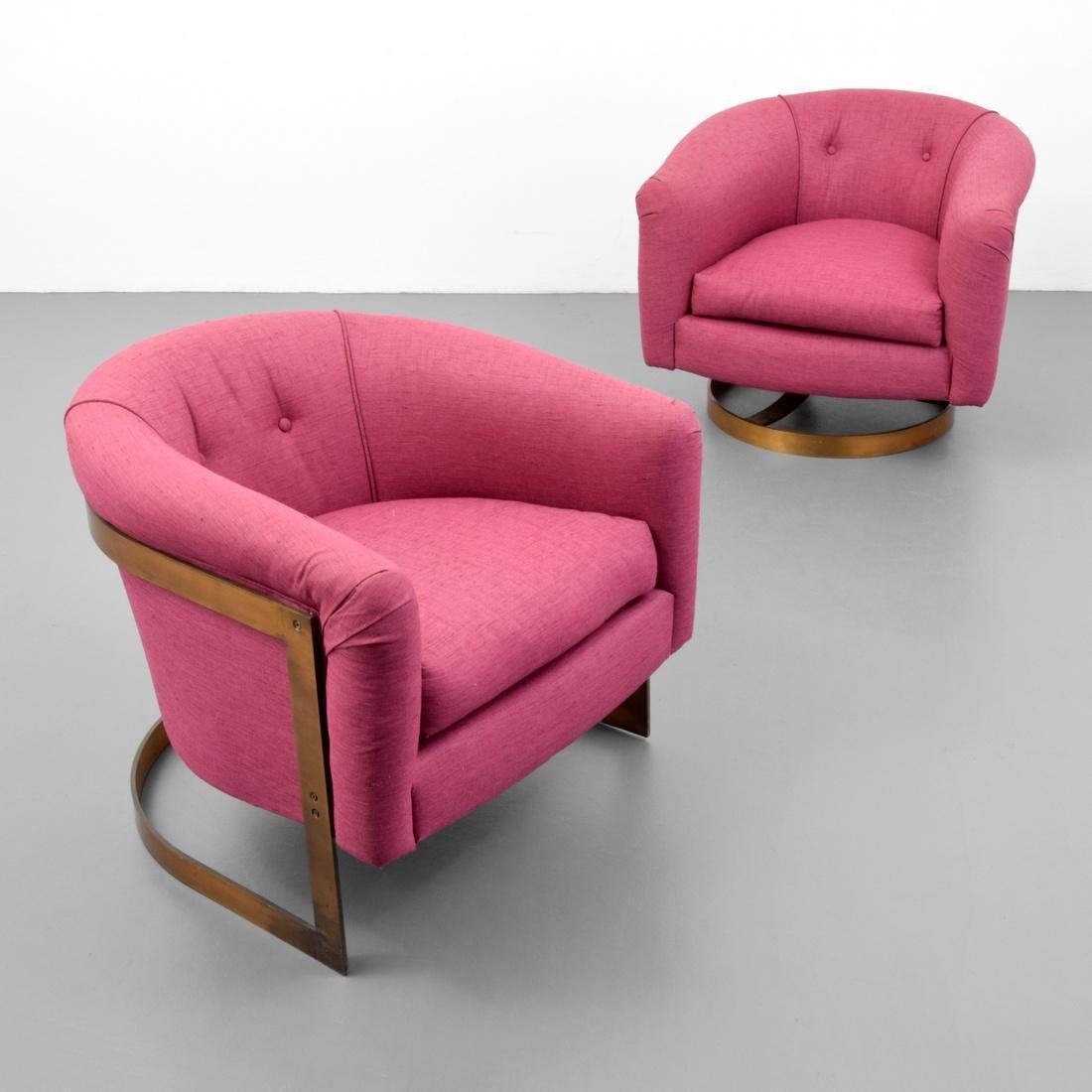 2 Milo Baughman Lounge Chairs