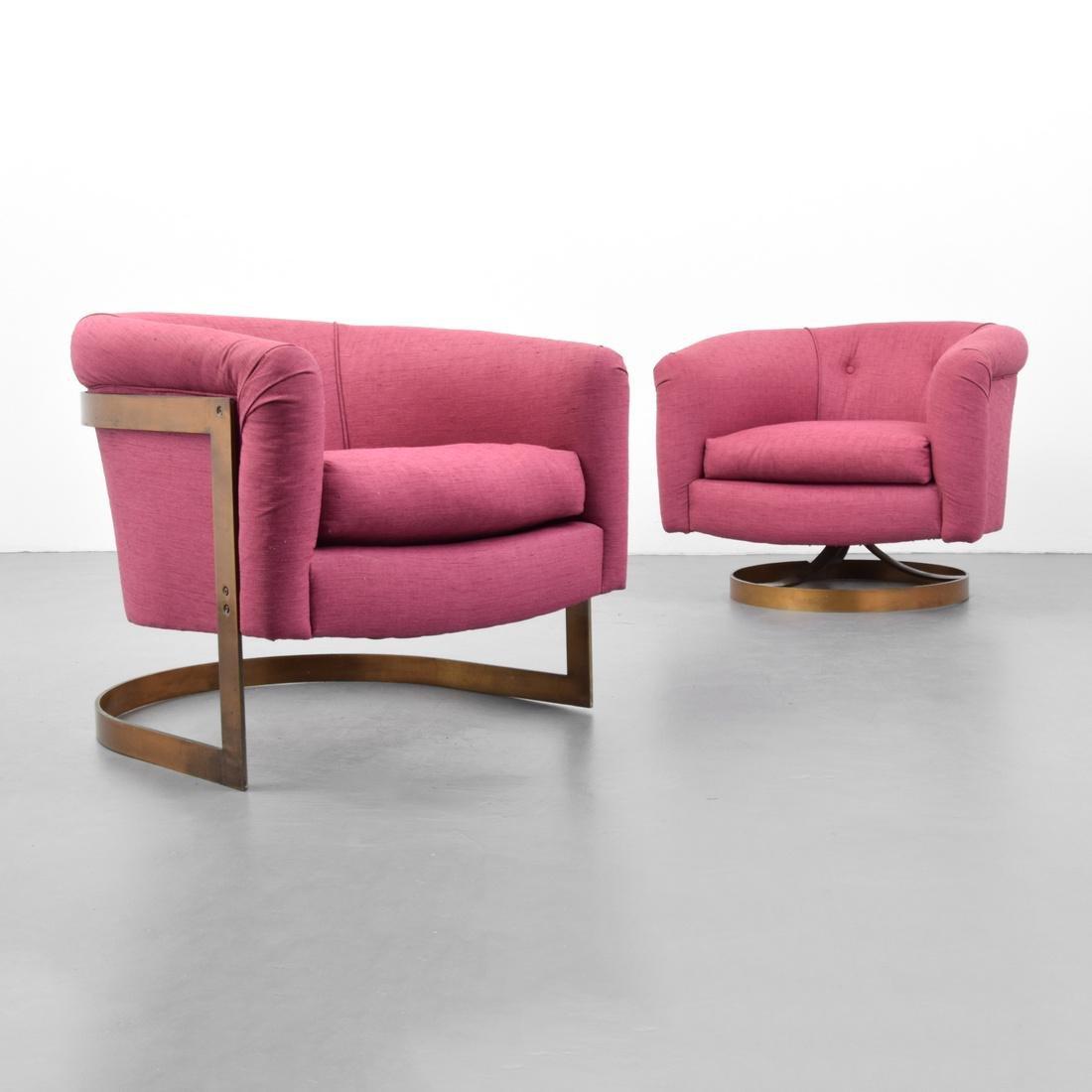 2 Milo Baughman Lounge Chairs - 7