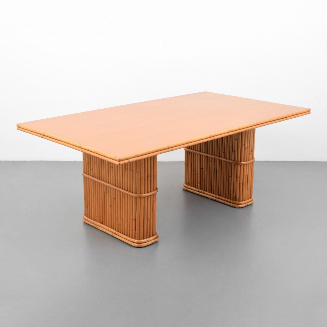 Rattan Dining Table, Manner of Paul Frankl