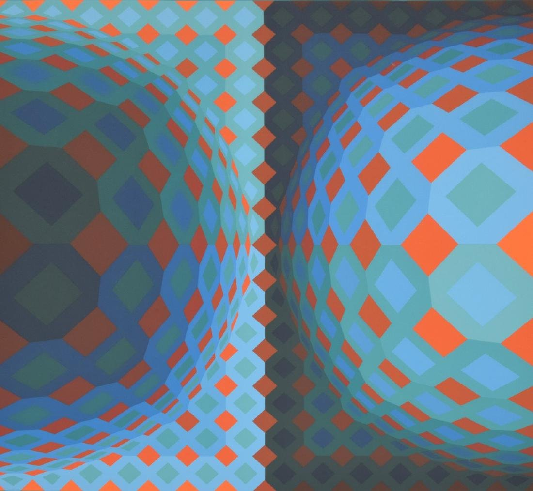 Victor Vasarely Screenprint, Signed Edition