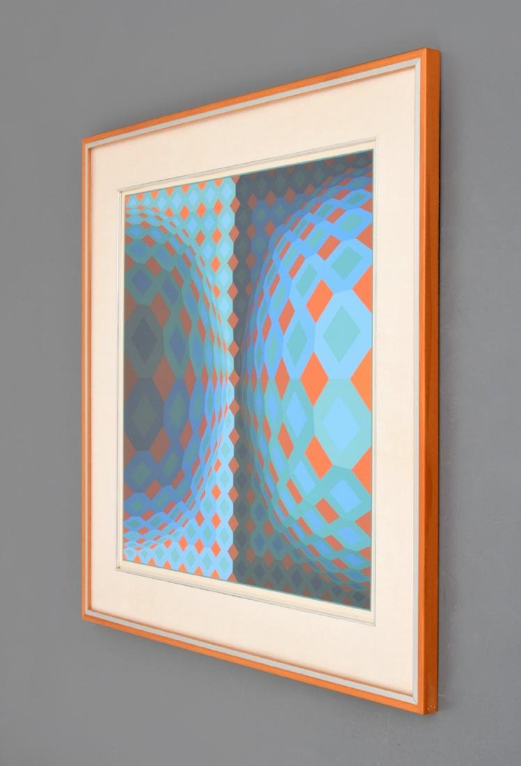 Victor Vasarely Screenprint, Signed Edition - 4