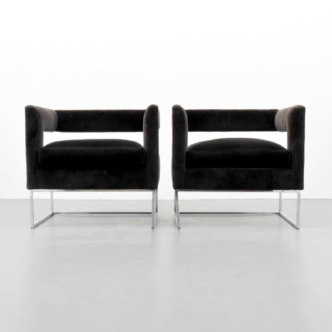 Pair of Milo Baughman Lounge Chairs - 2