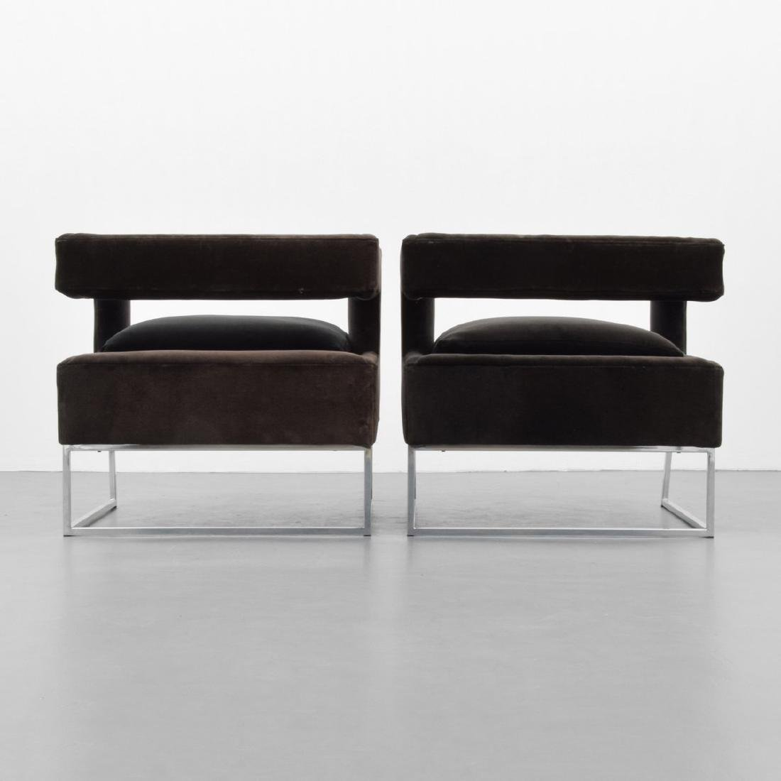 Pair of Milo Baughman Lounge Chairs - 3