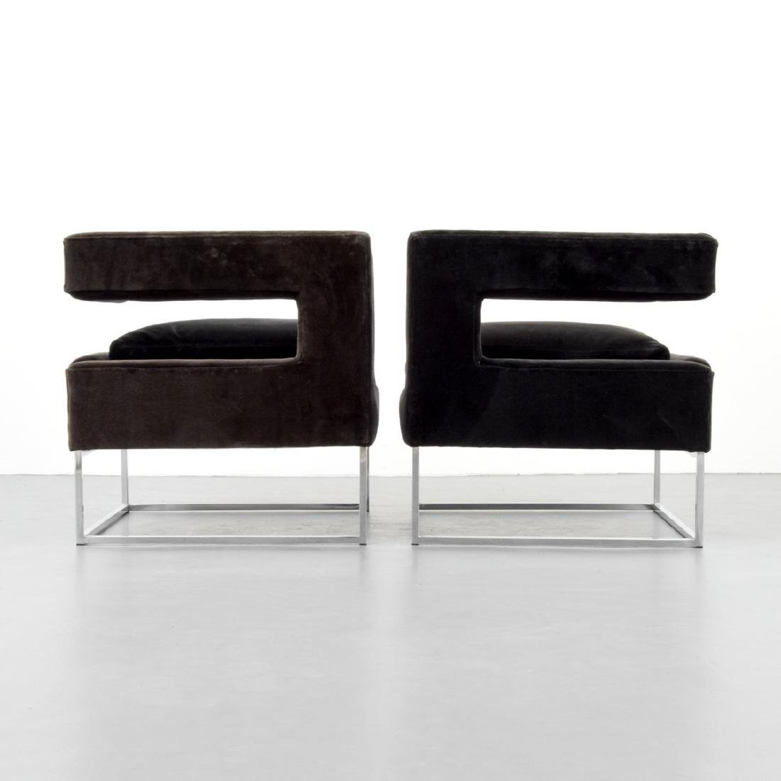 Pair of Milo Baughman Lounge Chairs - 4