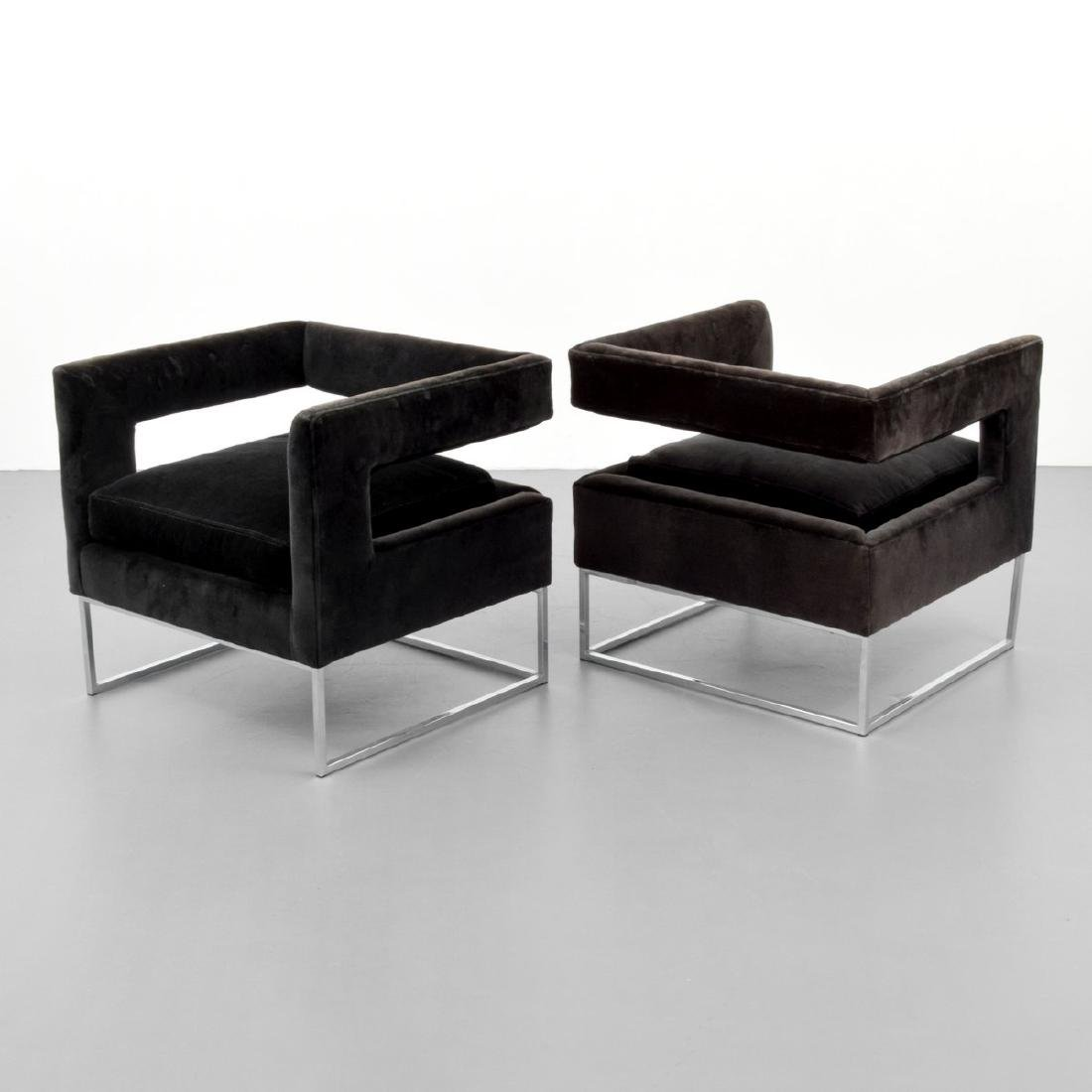 Pair of Milo Baughman Lounge Chairs - 5