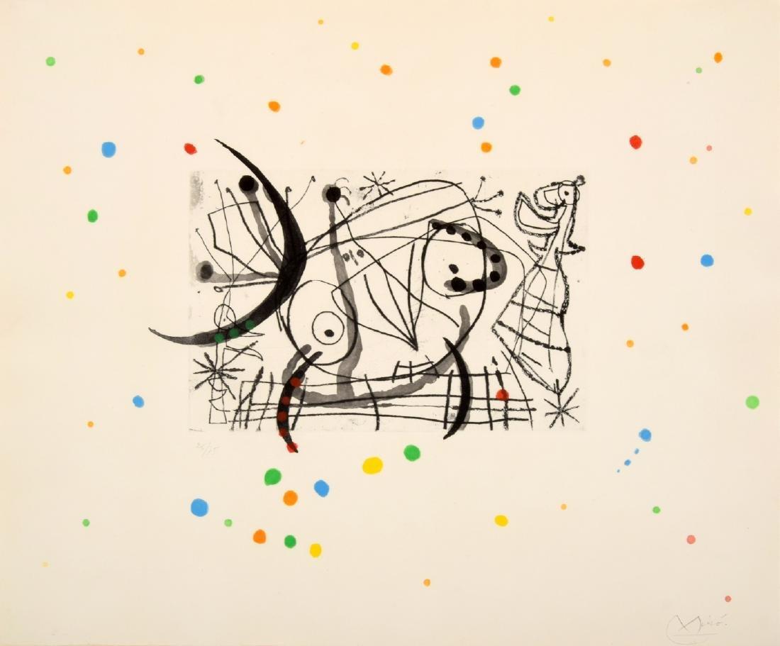 Joan Miro FISSURES Aquatint, Signed Edition