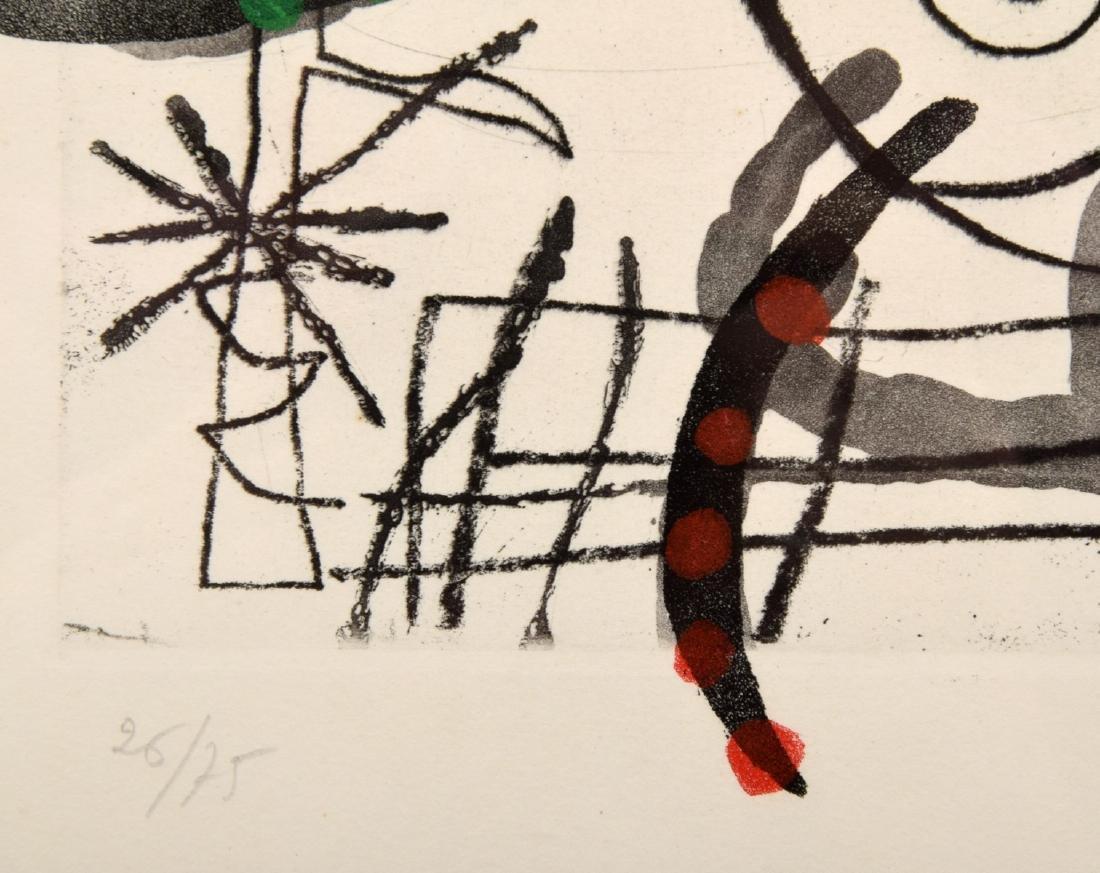 Joan Miro FISSURES Aquatint, Signed Edition - 7