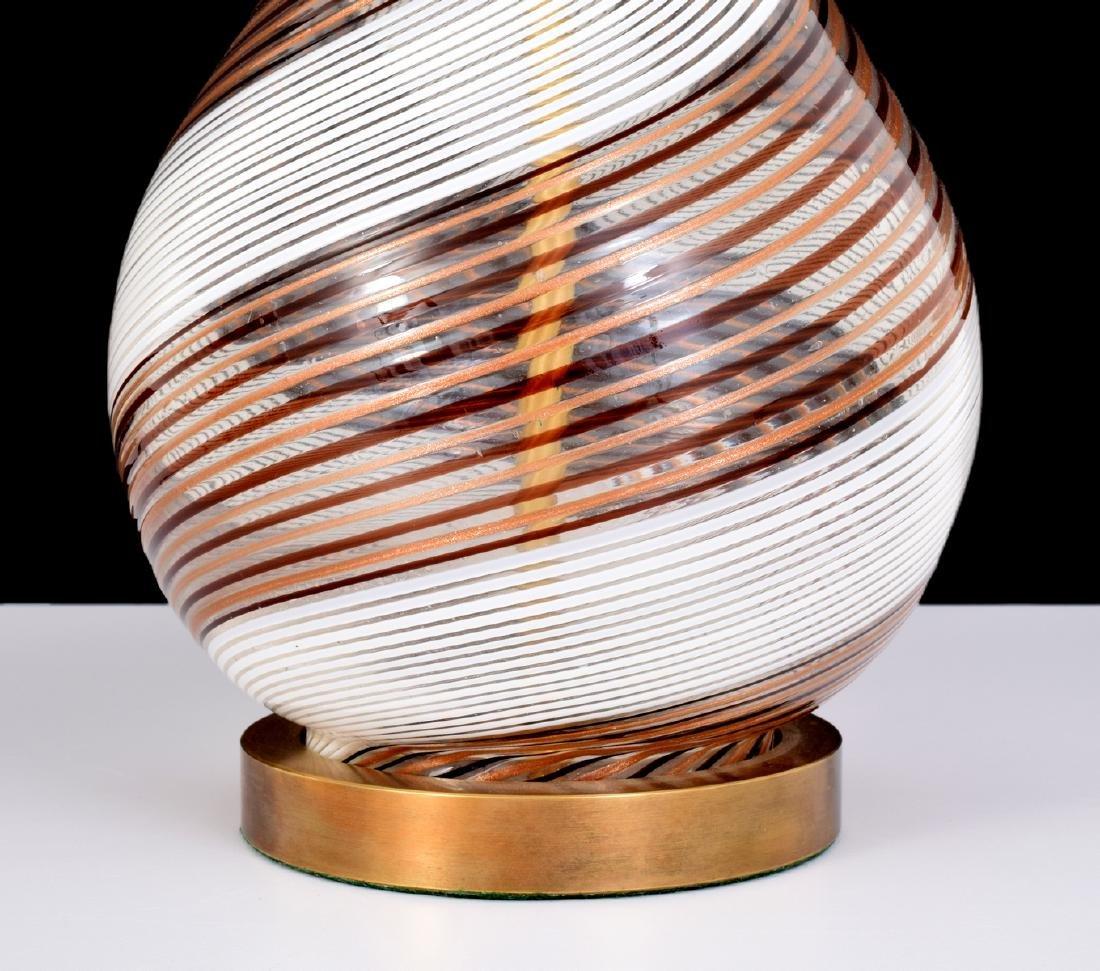 Pair of Dino Martens MEZZA FILIGRANA Lamps, Murano - 2
