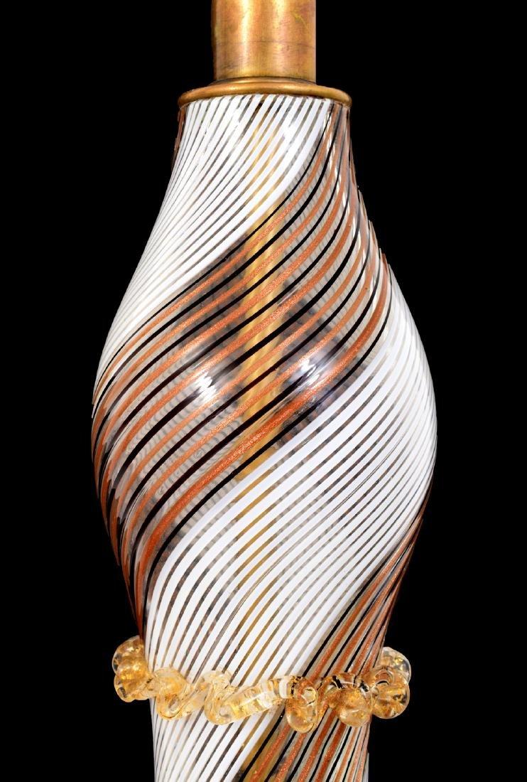 Pair of Dino Martens MEZZA FILIGRANA Lamps, Murano - 5