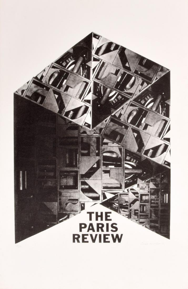 Louise Nevelson PARIS REVIEW Lithograph, Signed