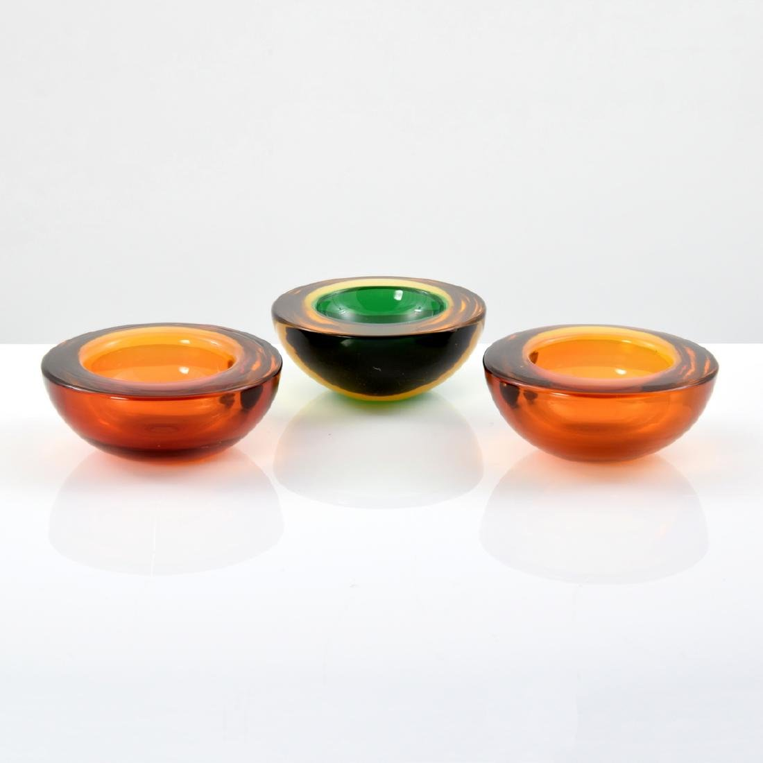 3 GEODE Bowls, Manner of Cenedese