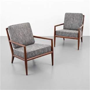 Pair of T.H. Robsjohn-Gibbings Lounge Chairs