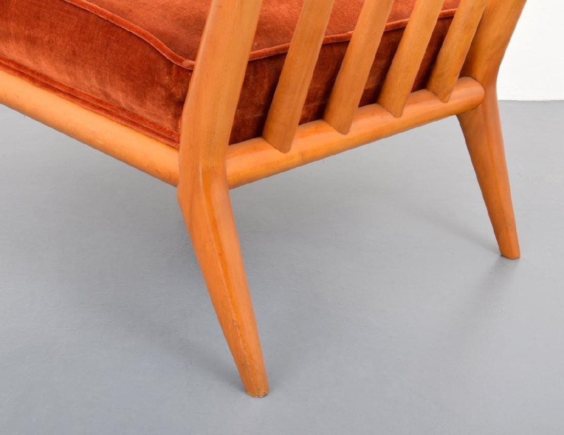 T.H. Robsjohn-Gibbings Lounge Chair & Ottoman - 10