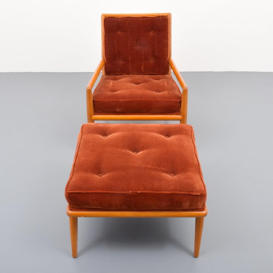 T.H. Robsjohn-Gibbings Lounge Chair & Ottoman - 11