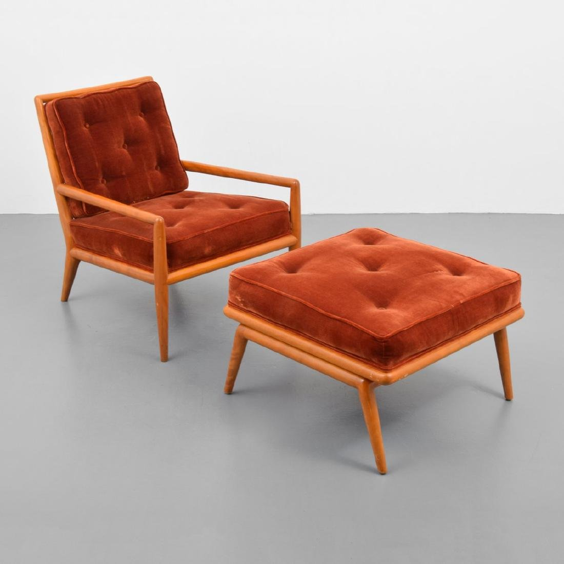 T.H. Robsjohn-Gibbings Lounge Chair & Ottoman