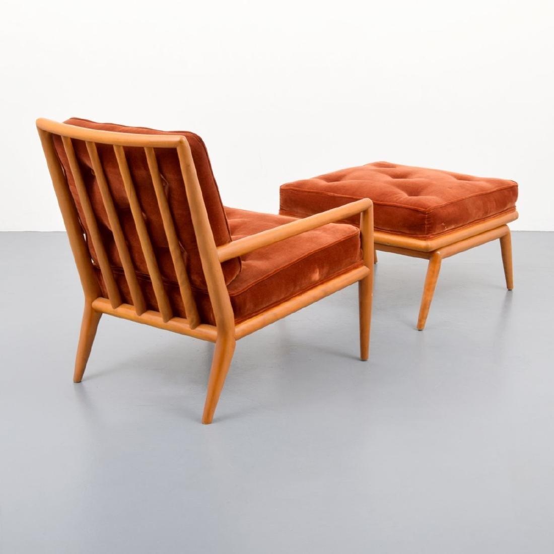 T.H. Robsjohn-Gibbings Lounge Chair & Ottoman - 2