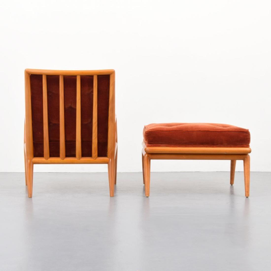 T.H. Robsjohn-Gibbings Lounge Chair & Ottoman - 3
