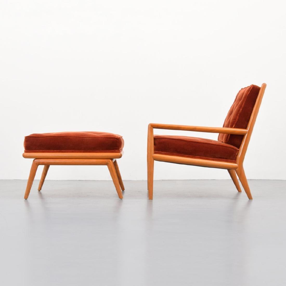 T.H. Robsjohn-Gibbings Lounge Chair & Ottoman - 4