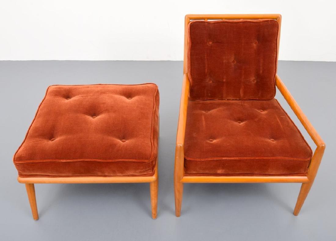 T.H. Robsjohn-Gibbings Lounge Chair & Ottoman - 5