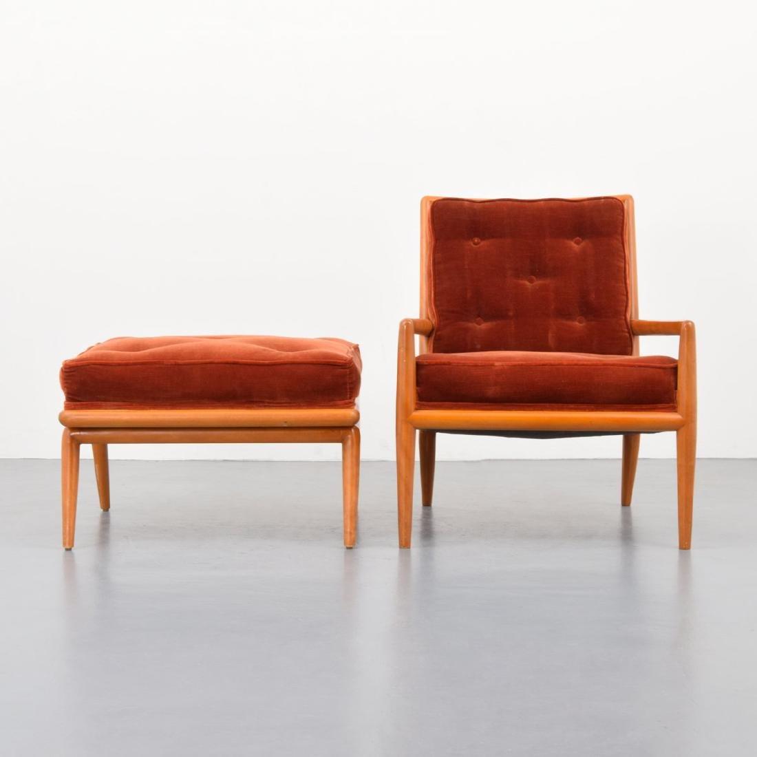 T.H. Robsjohn-Gibbings Lounge Chair & Ottoman - 6