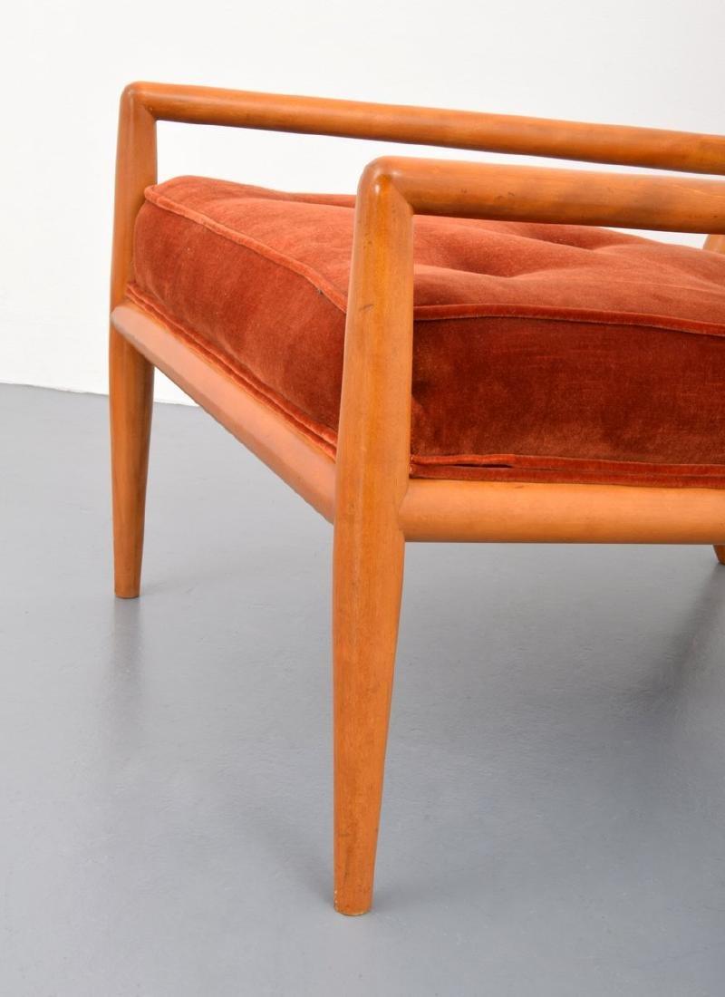 T.H. Robsjohn-Gibbings Lounge Chair & Ottoman - 9