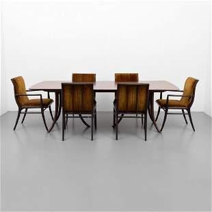 T.H. Robsjohn-Gibbings Dining Table & 6 Chairs