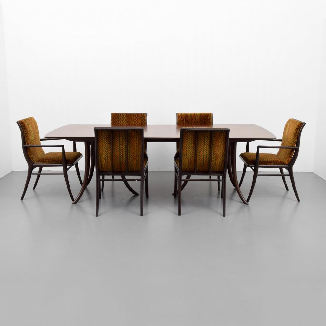 T.H. Robsjohn-Gibbings Dining Table & 6 Chairs