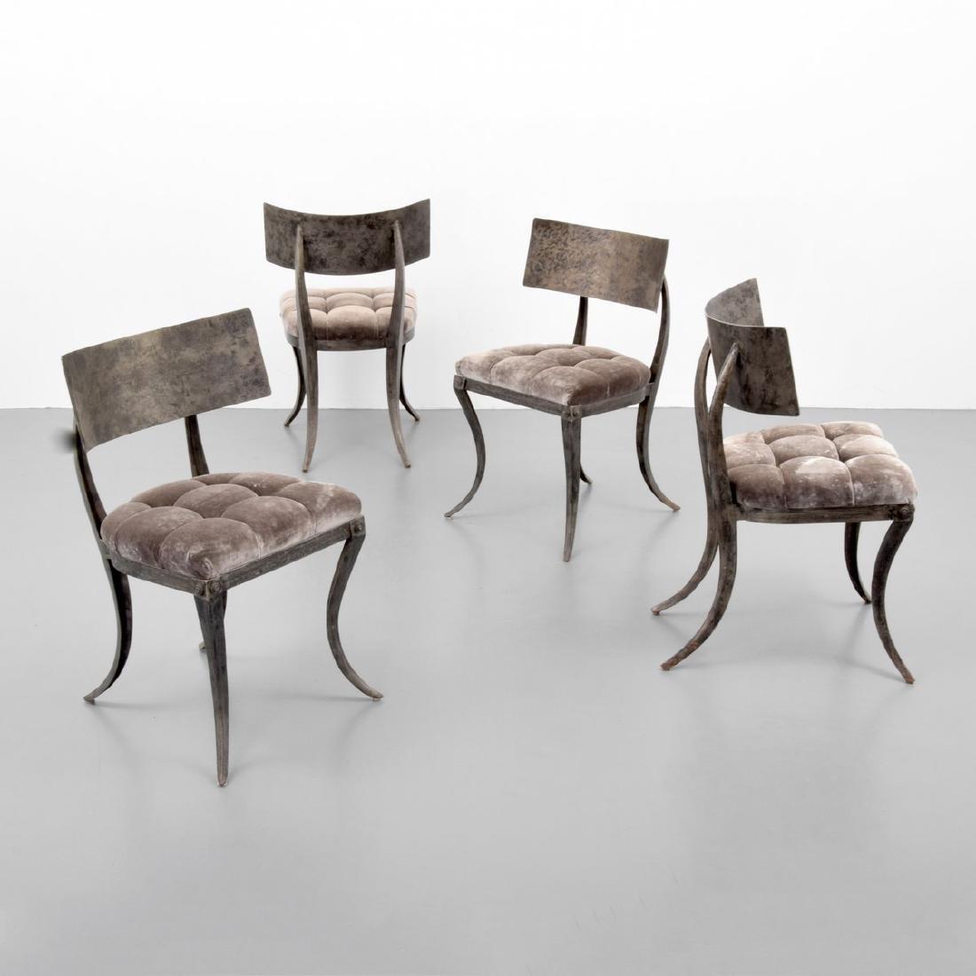 4 Klismos Chairs, Manner of T.H. Robsjohn-Gibbings