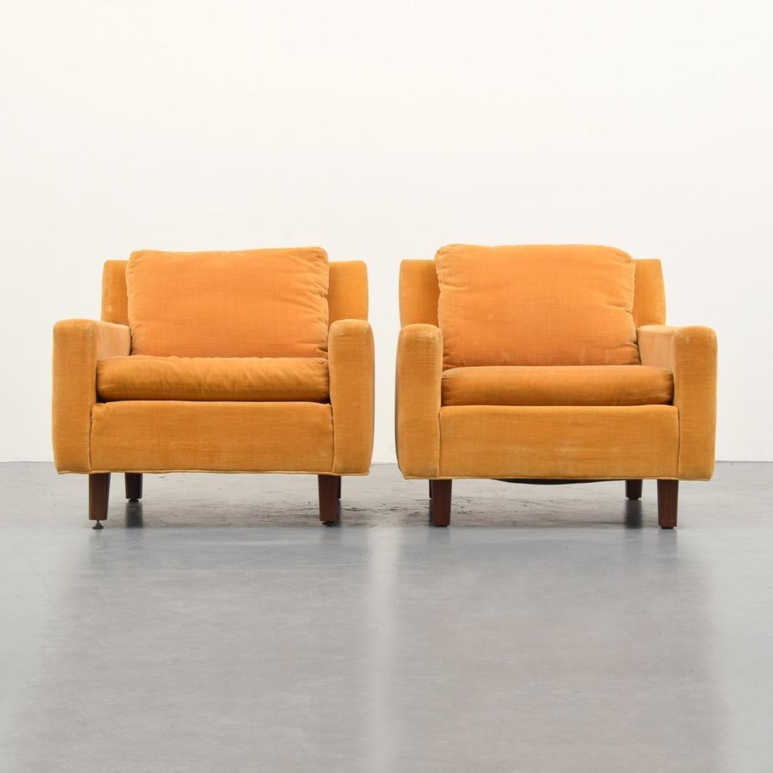 Pair of Milo Baughman Lounge Chairs - 2