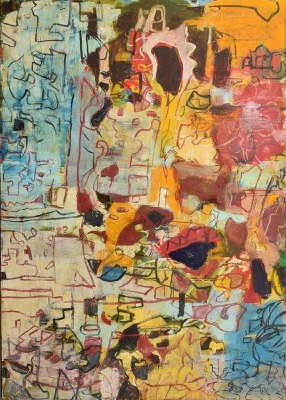 Monumental Roger Herman Painting