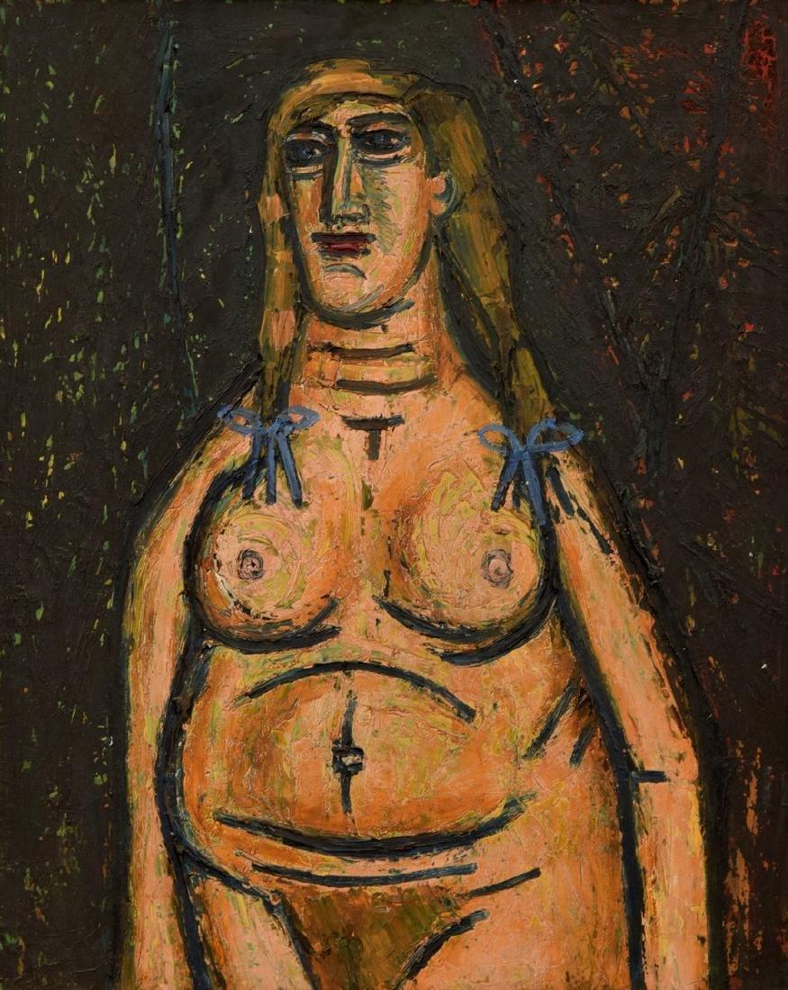 Francis Newton Souza Nude Figural Painting