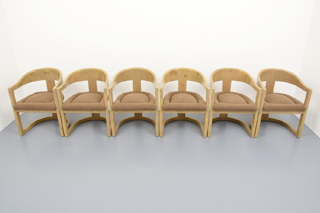 Karl Springer ONASSIS Chairs, Set of 6 - 3