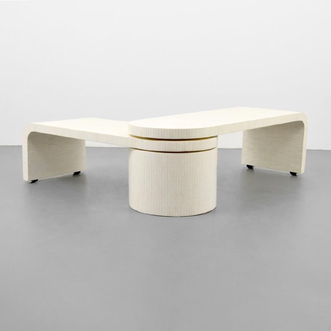 Tessellated Bone Coffee Table, Manner of Karl Springer