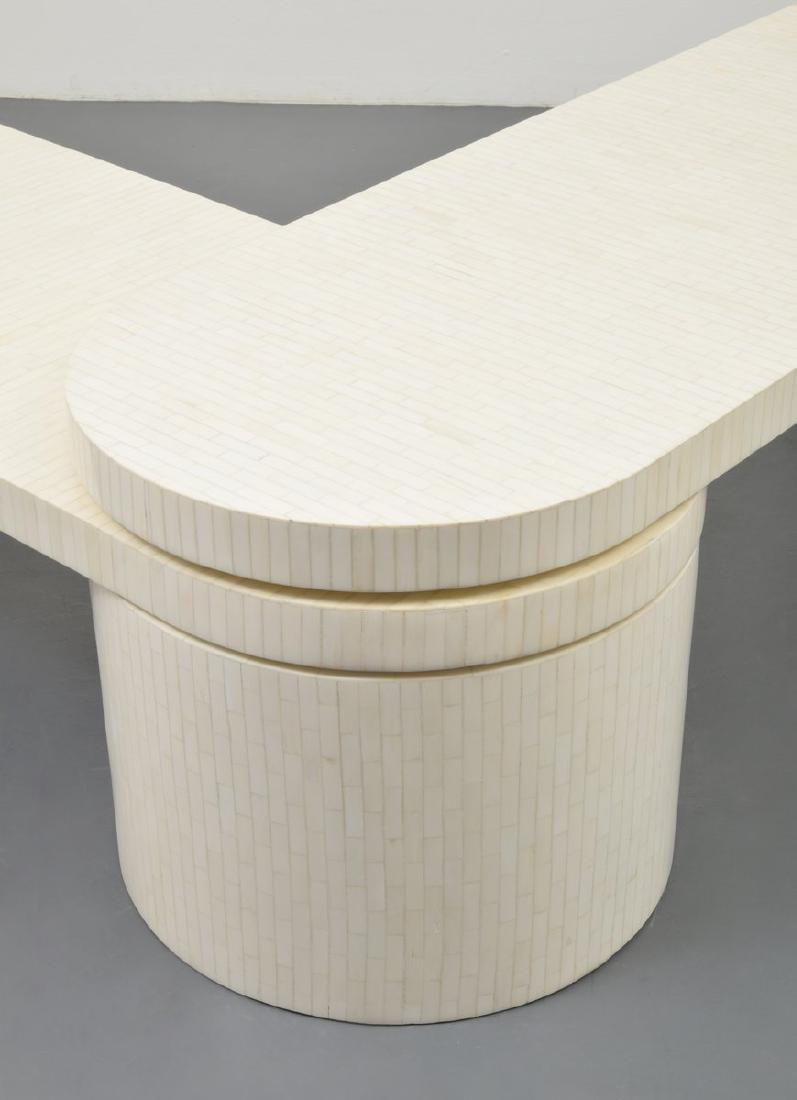 Tessellated Bone Coffee Table, Manner of Karl Springer - 3