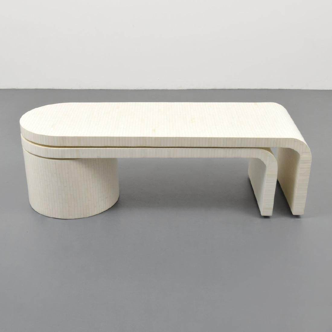 Tessellated Bone Coffee Table, Manner of Karl Springer - 4