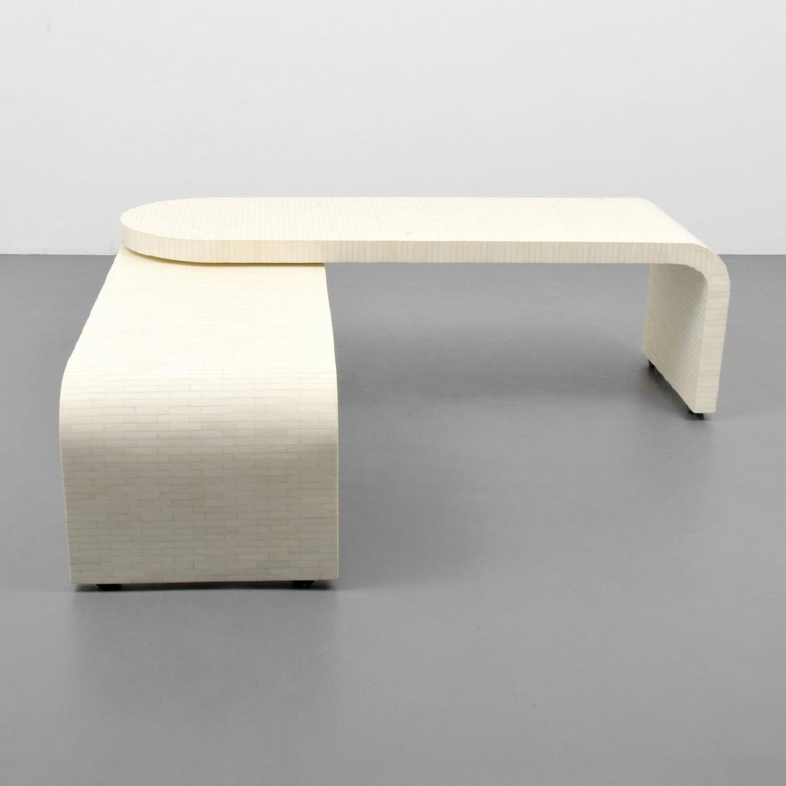 Tessellated Bone Coffee Table, Manner of Karl Springer - 5