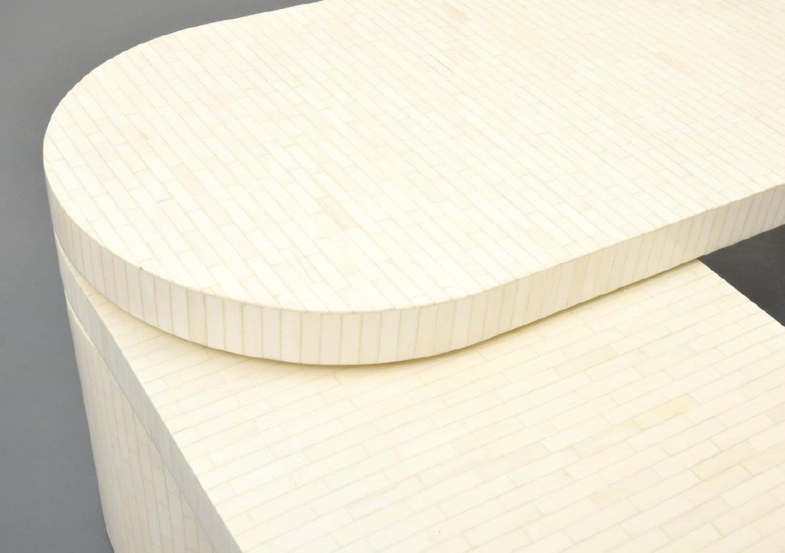 Tessellated Bone Coffee Table, Manner of Karl Springer - 7
