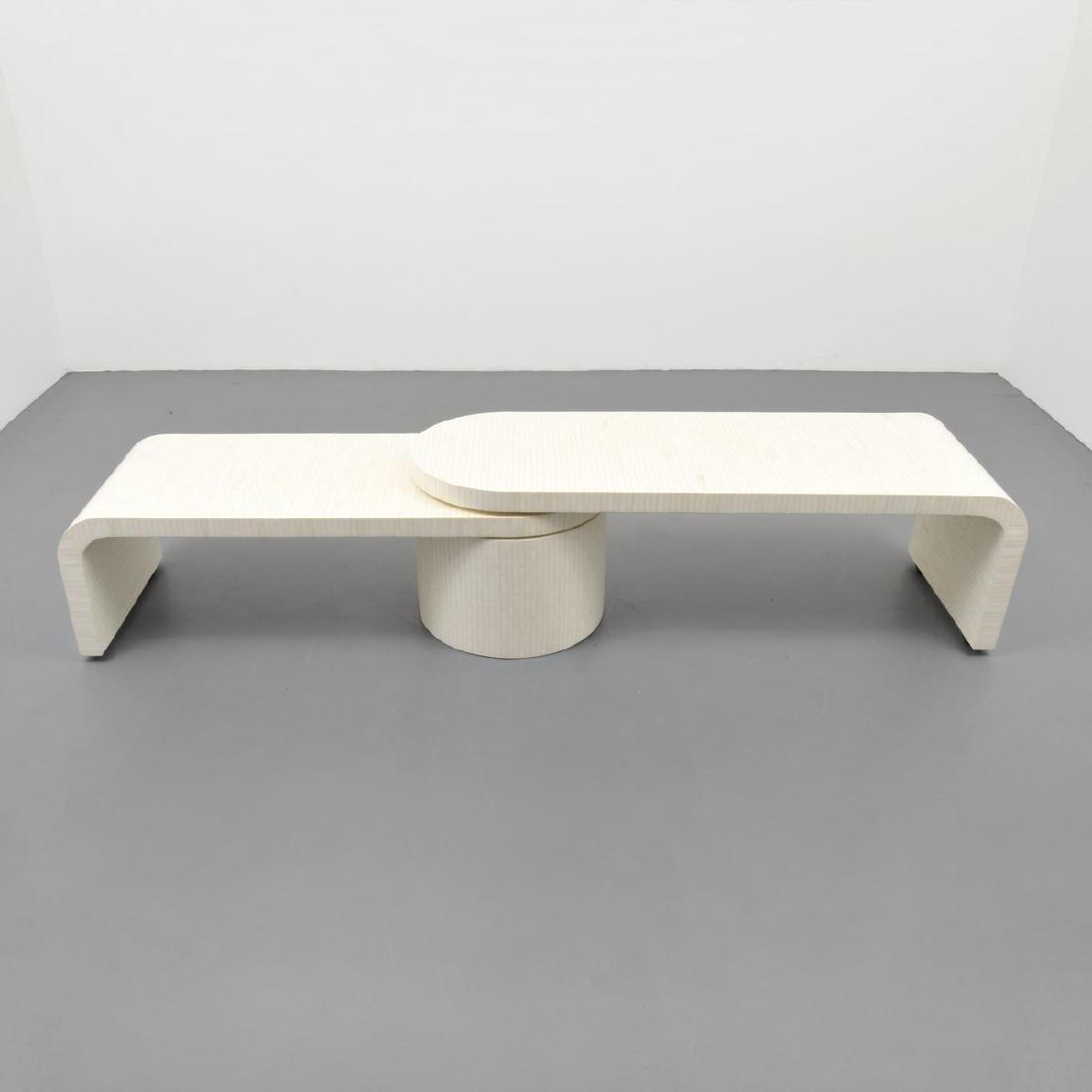 Tessellated Bone Coffee Table, Manner of Karl Springer - 8