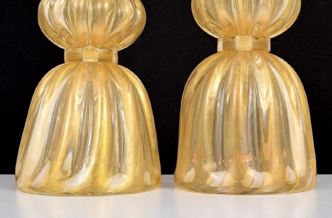 Pair of Large Murano Lamps, Manner of Barovier & Toso - 5