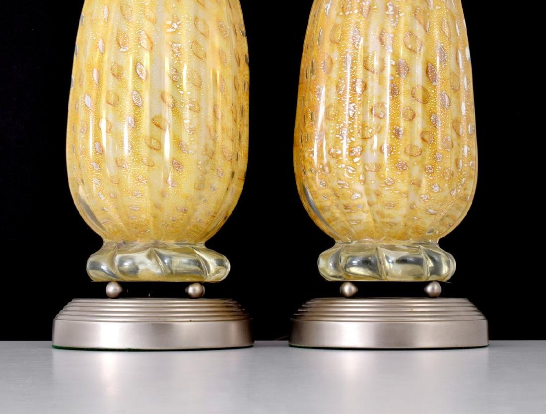 Pair of Murano Lamps, Manner of Barovier & Toso - 3