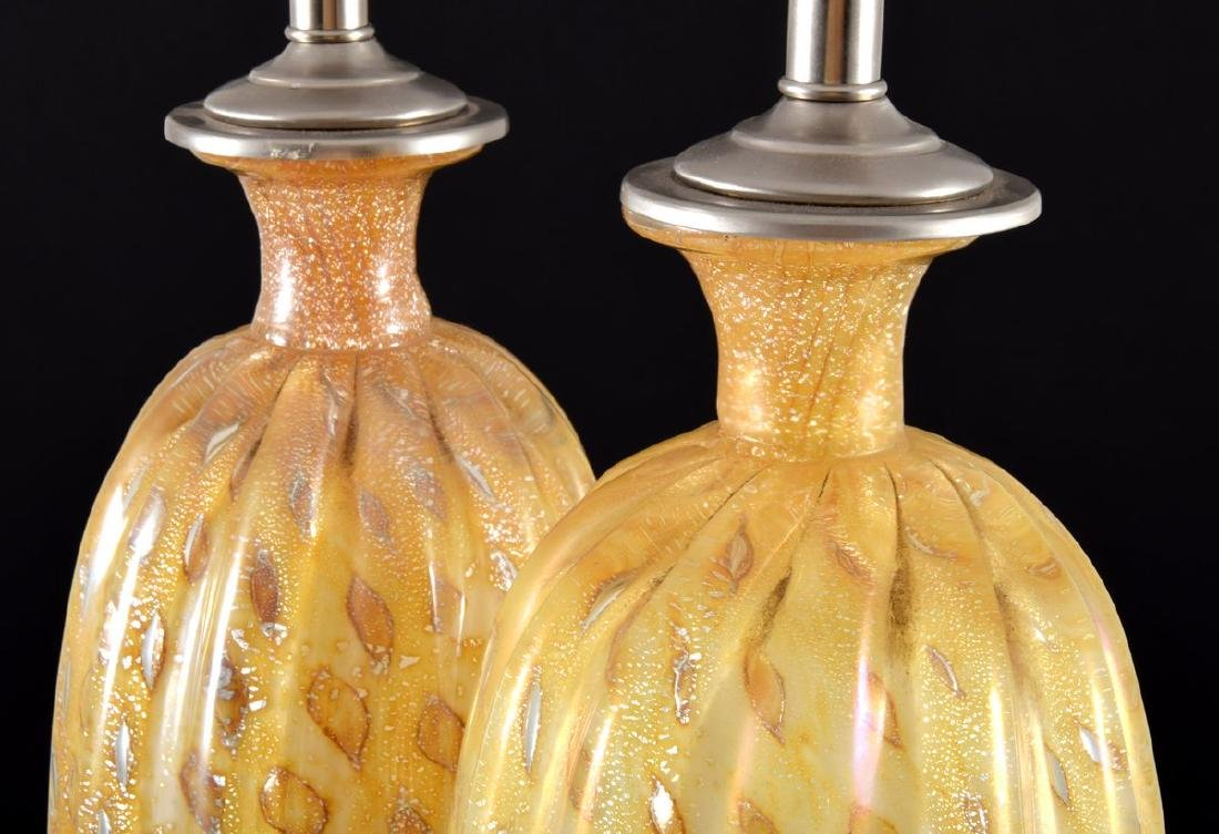 Pair of Murano Lamps, Manner of Barovier & Toso - 8
